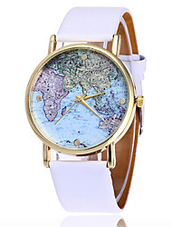 cheap -Fashion World Map Watch Casual Women Ladies Wrist Watches Vintage Leather Quarzt Watches Watched Relogio Feminino