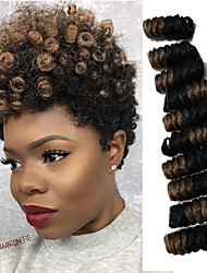 10inch Crochet Bouncy Bouncy Curl saniya Curl afro kinky Twist Braids Hair Extensions Kanekalon Hair 20 roots/pack Braids