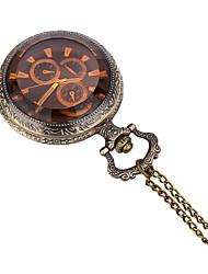 JUBAOLI Men's Pocket Watch / Quartz Alloy Band Casual Bronze