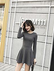 Signe 2016 automne rond gilet jacquard tricot hepburn vent bas jupe jupe parole jupe robe