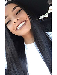 10-26 Inch 100% Human Virgin Hair Natural Black Color  Full Lace Remy Straight Lace  Wig-glueless with Baby Hair