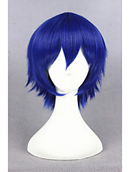 cheap -Costume Wigs / Synthetic Wig Straight Blue Women's Capless Cosplay Wig Short Synthetic Hair