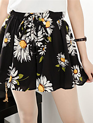 Sign XL Women 200 pounds fat mm spring and summer shorts bottoming elastic waist chiffon skirt pants