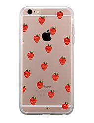 Недорогие -Назначение iPhone X iPhone 8 iPhone 8 Plus Чехлы панели Прозрачный С узором Задняя крышка Кейс для Фрукты Мягкий Термопластик для Apple