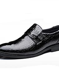 Herren Schuhe Leder Frühling Sommer formale Schuhe Outdoor Für Normal Party & Festivität Schwarz