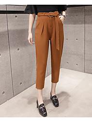 2017 nouveaux korean taille haute sarouel lâche collants femme pieds sensiblement minces pantalons décontractés