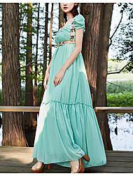 abito gonna lusso europei e americani vestito rastrellamento grande pannello esterno sottile con la cinghia