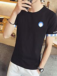 estate nuovi uomini&# 39; s t-shirt a maniche corte il colore del polsino della camicia caffè