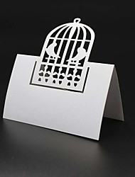 cheap -40pcs Birdcage Laser Cut Party Table Name Place Cards Wedding Cards Table Card Decoration Mariage Favors And Gifts Party Supplies