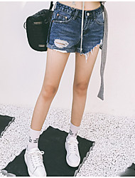 New Korean version of burr hole denim shorts spring new female hip was thin boots pants shorts tide