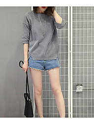 2017 new Korean version was thin loose burrs denim shorts leisure wild tide