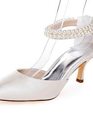 cheap -Women's Heels Spring Summer Fall Comfort Fabric Wedding Party & Evening Dress Stiletto Heel Pearl