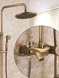 cheap -Antique Country Modern Centerset Pre Rinse Waterfall Rotatable Ceramic Valve Single Handle One Hole Antique Copper , Shower Faucet