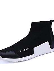 economico -Da uomo-Sneakers-Ufficio e lavoro Casual Sportivo-Comoda-Piatto-Tulle-Nero Rosso