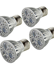 3W E26/E27 LED Spotlight B 3 High Power LED 200-250 lm Warm White 3000 K AC 85-265 V