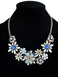 cheap -Women's Others Flower Floral Flower Style Flowers Fashion Euramerican Statement Necklace Multi-stone Crystal Rhinestone Crystal Resin