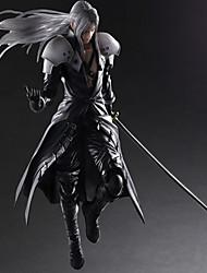 abordables -Las figuras de acción del anime Inspirado por Final Fantasy Sephiroth CLORURO DE POLIVINILO 28 CM Juegos de construcción muñeca de juguete