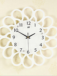 cheap -Creative Fashion Wood Mute Wall Clocks 2 Colors Optional(Black And White)
