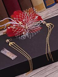 Feather liga de tecido headpiece-casamento ocasião especial casuais headbands ao ar livre 1 peça
