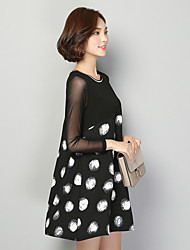 economico -T-shirt Da donna Da tutti i giorni Classico Estate,Puois Rotonda Chiffon Manica lunga Medio spessore