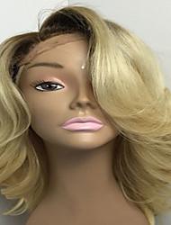 613 темных корни 6-26 дюймов бесклеевого человек девственного волос фронт шнурок бразильских виргинские волосы парики тело волна парики
