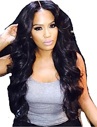 cheap -8-26inch New Arrival Wave Full Lace wigs brazilian virgin hair for black women with baby hair Wig