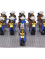 Stavební bloky Figurky z kostiček Hračky Bojovník Hrad Kůň 11 Pieces Dárek
