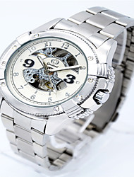 cheap -Men's Fashion Watch Alloy Band Casual Silver