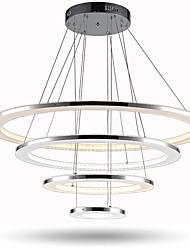 LED Ring Ceiling Chandeliers Acrylic Pendant Lights Indoor Deco Lamps Fixtures with 4 Rings 76W CE FCC ROHS