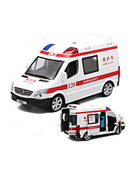 cheap -Toy Cars Die-Cast Vehicles Model Car Pull Back Vehicles Police car Ambulance Vehicle Toys Music & Light Car Metal Alloy Plastic 1 Pieces