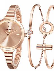 Ceas Elegant Ceas La Modă Ceas de Mână Ceas Brățară Quartz Ștras Plin de Culoare Oțel inoxidabil BandăSclipici Punct Flori Charm Cool