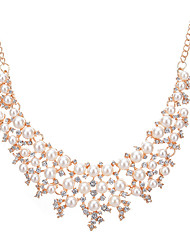 Da donna Girocolli Collane Statement Perle finte Strass Rotondo Di forma geometrica Perle finte Strass LegaGeometrico Perle finte Di