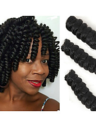 cheap -New style Bouncy Curl crotchet braid hair twist saniya curls free hook gift Synthetic braiding haar extension 20roots/pack 5packs make head