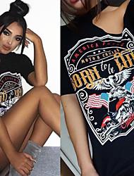 Amazon ebay AliExpress supply eagle motorcycle T-shirt printing Halter strapless dress