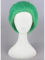 economico -Donna Parrucche sintetiche Pantaloncini Dritto Verde Parrucca Cosplay Parrucca per travestimenti