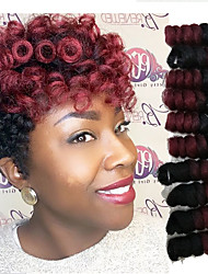 cheap -Crochet Bouncy Curl Twist Braids Bouncy Curl Hair Extensions Kanekalon afro kinky curly Hair Braids marley braiding