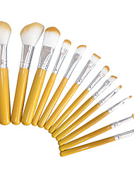 cheap -12pcs contour brush makeup brush set blush brush eyeshadow brush brow brush concealer brush foundation brush synthetic hairtravel full