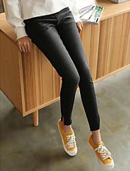 firmare lavati pantaloni stretch neri piedi sottile spaccato pantaloni in denim