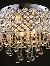 cheap -4 Light-Cylinder Shape  Raindrops Crystal Ceiling Lamp Lights