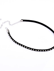 cheap -Women's Single Strand Fashion Euramerican Simple Style European Choker Necklace Jewelry Alloy Choker Necklace , Party Daily Casual Sports