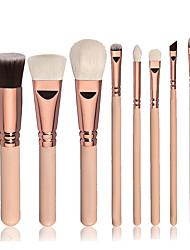 8pcs Contour Brush Makeup Brush Set Blush Brush Eyeshadow Brush Brow Brush Concealer Brush Foundation Brush Synthetic HairProfessional