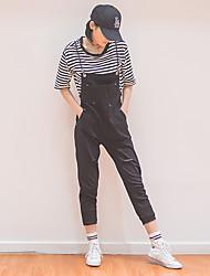 primavera segno buco nero salopette di jeans femminili studenti coreani bretelle allentati pantaloni pezzo collant