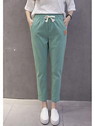 брюки 17 хлопок лето новый имитация широкий песня halun брюки большого размера брюки упругие талии брюки