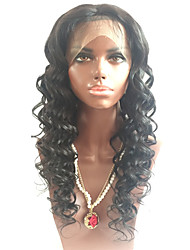 8-26inch grandi ricci vergini brasiliane piena pizzo davanti parrucche umani per le donne nere del merletto parrucca di capelli umani