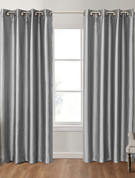 Two Panels Curtain Modern Solid Bedroom Polyester Material Blackout Curtains Drapes Home Decoration For Window