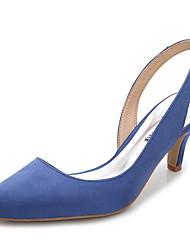 preiswerte -Damen Schuhe Seide Sommer Herbst Fersenriemen Stiefeletten Cloggs & Pantoletten Stöckelabsatz Spitze Zehe Geschlossene Spitze für