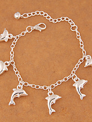 cheap -Women's Charm Bracelet Fashion Alloy Animal Jewelry Party Costume Jewelry Silver