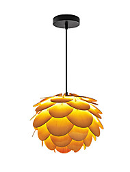 cheap -E14/E27 A-01Y Modern LightsLayered Wood Artichoke Ceiling Pendant Light Pendant Lampshade