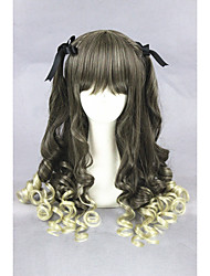 cheap -Synthetic Hair Wigs Curly Capless Carnival Wig Halloween Wig Lolita Wig Cosplay Wig Medium Green