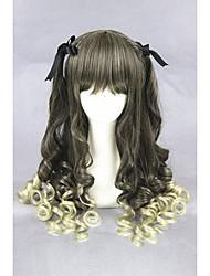economico -Donna Parrucche sintetiche Medio Riccio Scuro Biondo Cenere Parrucca Cosplay Lolita Parrucca Parrucca di Halloween Parrucca di carnevale